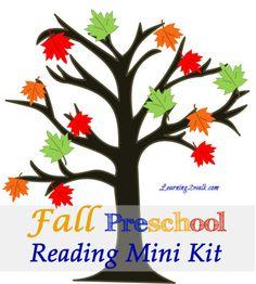 FREE Fall Preschool Reading Mini Kit