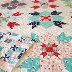 Lovely quilt featuring Tasha Noel fabrics Little Red Riding Hood and Country Girls