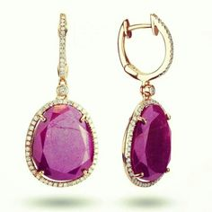 Ruby & DIAMOND earrings 14kg check us out:  https://m.facebook.com/3heartsboutique  http://www.chicagoprivatejeweler.com