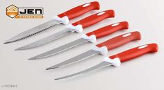 Checkout this latest Knives & Knife Set Product Name: *5 Pcs Red Knife Set * Material: Stainless Steel Country of Origin: India Easy Returns Available In Case Of Any Issue   Catalog Rating: ★4 (340)  Catalog Name: Classic Knives & Knife Set CatalogID_1949162 C135-SC1648 Code: 442-10632241-315