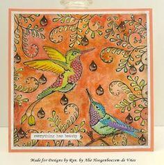 Tim Holtz Crazy Birds make me crazy too...Art Journal and a skinny | Alie Hoogenboezem-de Vries | Bloglovin