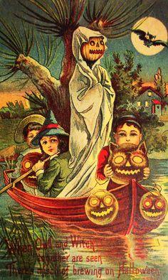 Halloween postcards c. 1900s