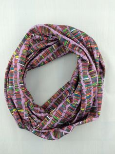 Stacks of books infinity scarf
