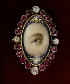GEORGIAN-PAINTED-LOVERS-EYE-GOLD-BROOCH-WITH-DIAMONDS-GARNETS-c-1800s