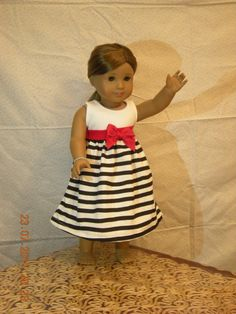 American girl doll dress  free gift bag till by kitchentable46, $15.00