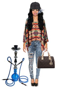 """""""New York: Spotted in a Hookah Lounge"""" by mmr-dance ❤ liked on Polyvore featuring MICHAEL Michael Kors"""