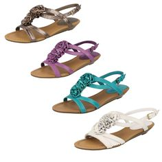 afb1a7ff9195 LADIES LEATHER CLARKS ANKLE STRAP SANDALS - STYLE SANTA ROCK Beach Shoes