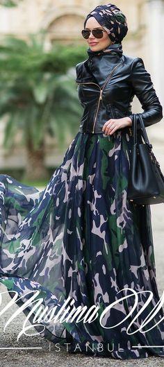 Muslima Wear Military Skirt