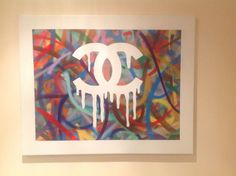 Original large Spray Paint on canvas - 24 x 30 inches - SOLD all enquiries Izak.k@hotmail.co.uk