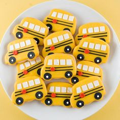School bus cookies...Giovanni would flip for these!!!