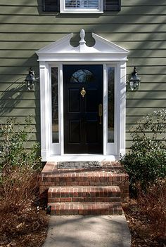 New home exterior on pinterest colonial exterior for Exterior window pediments