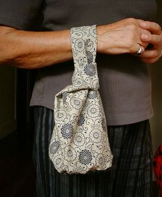 DIY: japanese knot bag