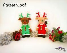 Pattern [EN-FR-DE] Rémi the Christlas Reindeer, by Croc's Betty