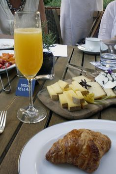It seems that you can never have enough cheese or bread when having brunch.  Yummy!
