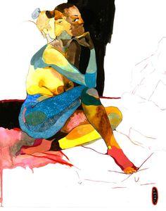 """Saatchi Art Artist Emma Vakarelova;  Risanje, """"Akt o"""" #art"""