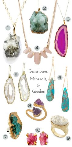 Trend: Gemstone, Mineral, and Geode Jewelry