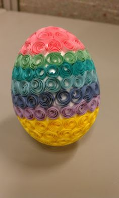 3D quilled egg!