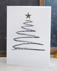 Scribbled Christmas Tree Card