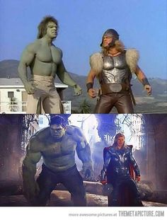 Hulk and Thor 30 years later...