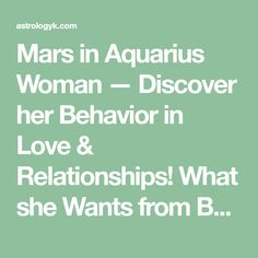 Saturn square ascendant the planets in aspect pinterest mars in aquarius woman discover her behavior in love relationships what she wants fandeluxe Gallery