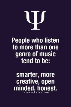 thepsychmind: Fun Psychology facts here! - Aer you getting tired of Country? Let me know what you want to change it to. Psychology Fun Facts, Psychology Says, Psychology Quotes, Psychology Facts Personality Types, Infp, The Words, Music Quotes, Life Quotes, Physiological Facts