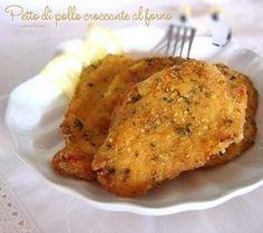 Petto di pollo croccante al forno