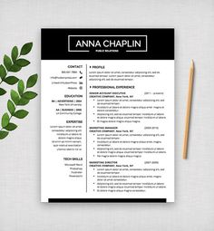 professional resume template cv and cover letter modern design microsoft word digital download gramercy