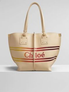 Chloé - Discover the Chloe Medium Vick Tote in BLONDIE BEIGE. Next day delivery available on selected items. Shop now. Chloe Logo, Dust Bag, Studs, Stripes, Beige, Shoulder Bag, Zip, Tote Bag, Medium