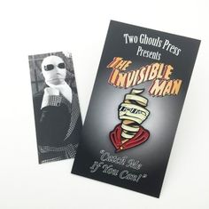 Invisible man - universal monsters enamel pin lapel pin pin flair two ghouls press