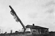 THE OCCUPATION AND LIBERATION OF THE CHANNEL ISLANDS 1940-1945. Guernsey: No 1 Gun of the Mirus Gun Battery, camouflaged by a dummy cottage. The battery was constructed in 1941-1942 near Guernsey aerodrome during fortification of the islands.