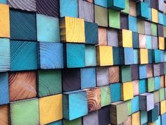 Bois Art mural  Headbord  Installation murale par WallWooden