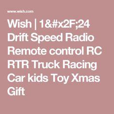 Wish | 1/24 Drift Speed Radio Remote control RC RTR Truck Racing Car kids Toy Xmas Gift
