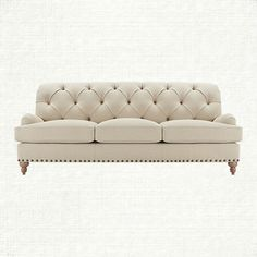 The Enwright Sofa is endless in comfort & English inspirations: extra deep tufting, antique nailheads and gathered arm pleats. www.arhaus.com