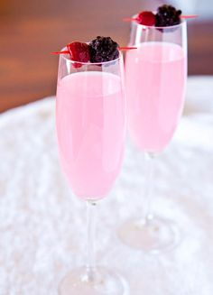 Coconut Water Champagne Fruit Punch - Coconut water is a natural hangover preventer! (Now you can drink more champagne!)