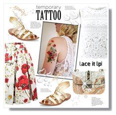 """Tattoo"" by stranjakivana ❤ liked on Polyvore featuring beauty, Dolce&Gabbana, Kate Spade, Ermanno Scervino, Valentino, katespade, polyvoreeditorial, valentinogaravani and temporarytattoo"
