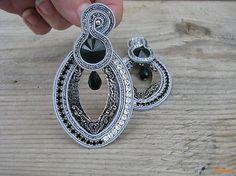 Ridgways / Hoop Collection - Black/Silver ...soutache