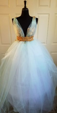 Nice Amazing Mint Green & Gold Lace Tulle Garden Nymph Babydoll Beach Wedding Bridal Ballgown 2018 Check more at http://24store.ml/fashion/amazing-mint-green-gold-lace-tulle-garden-nymph-babydoll-beach-wedding-bridal-ballgown-2018/