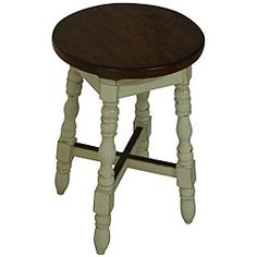 @Overstock - Solid wood counter-height stool features a swivel seat finished in traditional cherryDining furniture base and legs are finished in antique whiteBar stool foot rails are topped with metal plates to prevent scuffs to the finishhttp://www.overstock.com/Home-Garden/Avondale-Swivel-Counter-Stool/3431377/product.html?CID=214117 $96.99