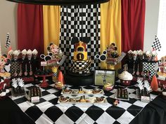 Diana O's Birthday / Mickey Mouse - Photo Gallery at Catch My Party Mickey Mouse Birthday Theme, Baby Boy 1st Birthday Party, Race Car Birthday, Birthday Themes For Boys, Cars Birthday Parties, Mickie Mouse Party, Lightning Mcqueen Birthday Cake, Mickey Mouse Photos, Party Ideas
