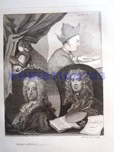 SALMAN, MARCO RICCI & RALPH COLE XRARE ENGRAVING ca1790