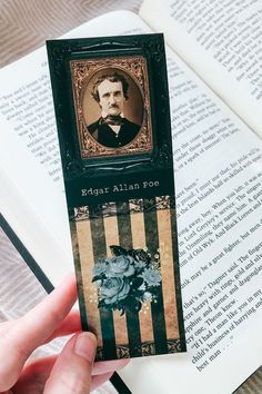 Edgar Allan Poe, famously known as the master of horror and gothic fiction, is one of our favourite authors and a must read for the autumn season. What better way to celebrate his fabulous fiction than with a matching bookmark! Click know to find this and many more printable bookmarks in our shop.