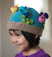 Fishbowl Beanie - A fun #hat with adorable fish from Love of #Crochet magazine