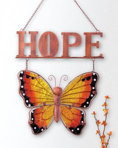 Hope Butterfly Hanging Wall Decor