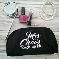 Makeup bag; personalised makeup purse; wedding gift idea for bridesmaids; wedding bags; personalised makeup bag; personalised cosmetic bag; by Bridal Bling Australia www.bridalbling.com.au