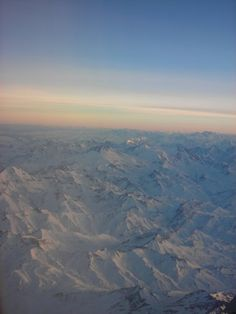 The view of the Andes mountain range from an airplane. Crossing from Argentina to Chile.