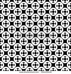 Vector seamless pattern with simple geometric figures, perforated circles. Black & white illustration. Endless abstract background, repeat tiles. Modern monochrome texture. Design for prints, decor