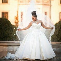 Find Princess plus size wedding gowns from Darius Couture. We specialize with for brides of all shapes and sizes. Affordable custom and of couture designs are possible. Plus Size Brides, Plus Size Wedding Gowns, Wedding Bride, Dream Wedding, Gown Wedding, African American Brides, Vestidos Plus Size, Sr1, Curvy Bride