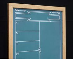 """Our framed weekly planner helps you manage your busy schedule! Green """"Southwestern Chalkboard"""" Weekly Planner Whiteboard"""
