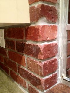 Thin brick for kitchen backsplash Beautiful Kitchens, Beautiful Homes, Kitchen Designs, Kitchen Ideas, Thin Brick, Decorating Ideas, Decor Ideas, Cabinet Ideas, Kitchen Backsplash