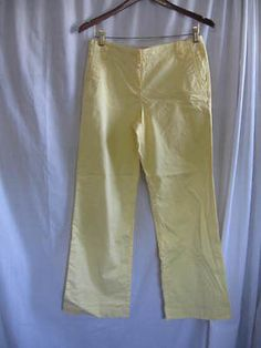 Sunny-Yellow-Ladies-Pants-from-Ann-Taylor-Loft-Petites-size-4P